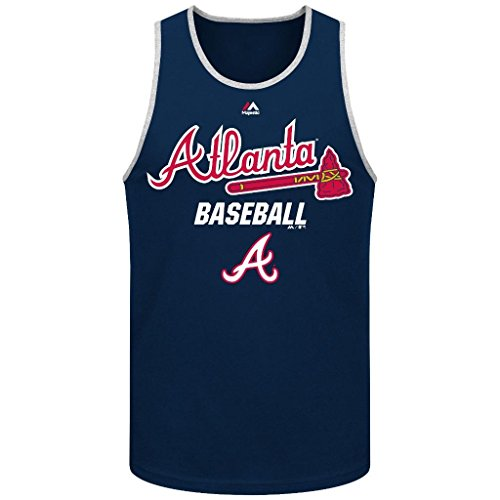 MLB Men's Majestic All Of Destiny Tank Top (Xlarge, Atlanta Braves)