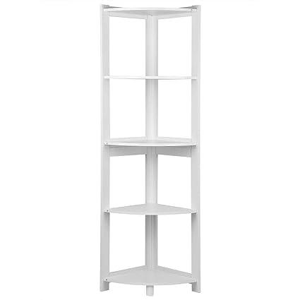 Scaffale Libreria Angolare 5-Tier Mensole Angolo Corner Bookshelf ...