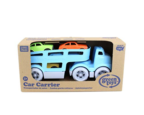 41mPWRdKHoL - Green Toys Car Carrier Vehicle Set Toy, Blue