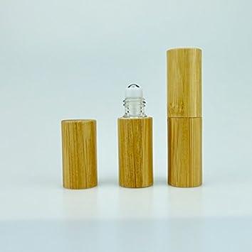 Amazon.com: rollon de madera Premium botellas bambú carcasa ...