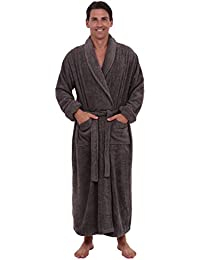 Del Rossa Men's Turkish Terry Cloth Robe, Long Cotton...