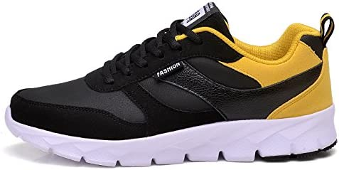 FITRUNSHOE Zapatillas para Hombres Hard-Wearing amortiguación Exterior Zapatos Masculinos Sport Light cómodas Zapatillas de Estabilidad del Hombre Zapatos,Amarillo,UE39: Amazon.es: Deportes y aire libre