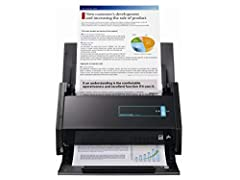 Scan snap ix500 desktop Scanner for PC and Mac. Blazing 25ppm color scanning. Two sided scanning. Usb or Wi-Fi connection to a computer.
