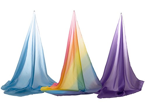 Sarah's Silks Set of 3 Playsilks Rainbow Sky (Sarahs Play Silks)