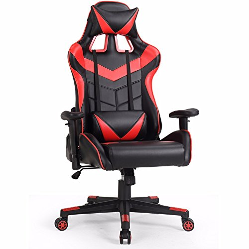 Valka Swivel High-back Leather Gaming Chair Racing Chair Recliner Red Zhejiang Huaxia Bamboo and Wood Products Co., Ltd.