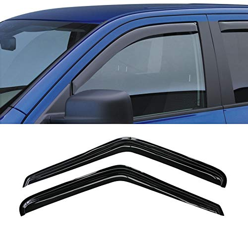 VIOJI 2pcs Front 2-Door Smoke Sun Rain Guard Vent Shade Window Visors for 95-05 Chevy S10 Blazer 95-01 GMC S15 Jimmy 2-Door SUV 94-04 S10 Pickup Sonoma Pickup 96-00 Isuzu Hombre (Front 2-Doors)