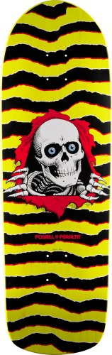 "Powell-Peralta Skateboards ""Old School Ripper"" Black/Yellow 10.0"" Deck"
