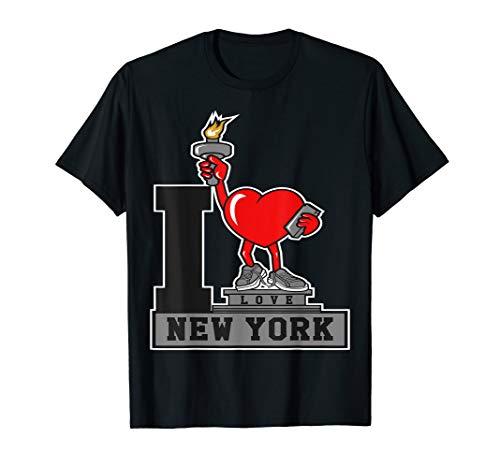 I Love New York Statue Of Liberty T-Shirt Heart NY City Town