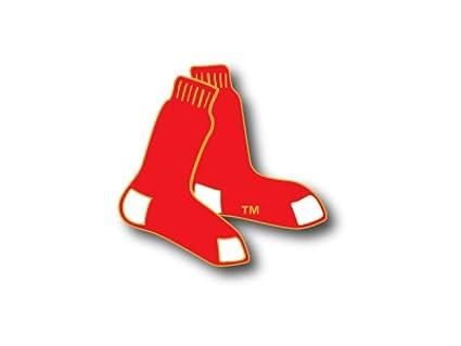 amazon com boston red sox sox logo pin sports fan socks