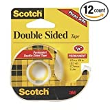 3M Scotch CLIP-137 Permanent Double Sided Tape (Case of 12)