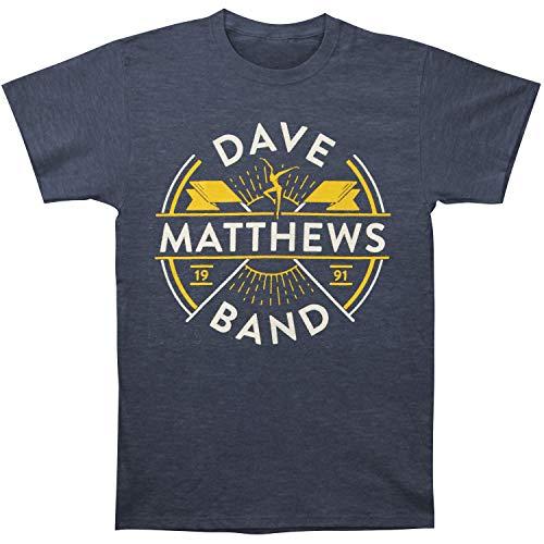 Dave Matthews Band Men's Flag Tee Slim Fit T-Shirt Heather Navy