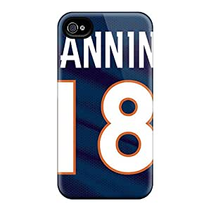 Anti-Scratch Hard Phone Case For Iphone 4/4s With Support Your Personal Customized Nice Denver Broncos Image DrawsBriscoe