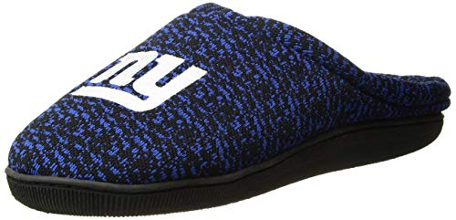 FOCO NFL New York Giants Mens Poly Knit Cup Sole Slipperpoly Knit Cup Sole Slipper, Team Color, Medium (9-10) ()