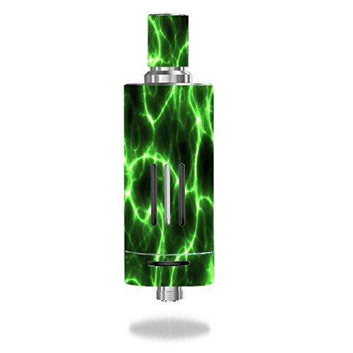 joyetech-delta-2-tank-vape-e-cig-mod-box-vinyl-decal-sticker-skin-wrap-green-lightning-storm-electri