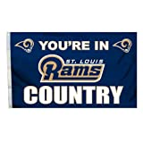 NFL Los Angeles Rams In Country Flag with Grommets, 3 x 5-Foot