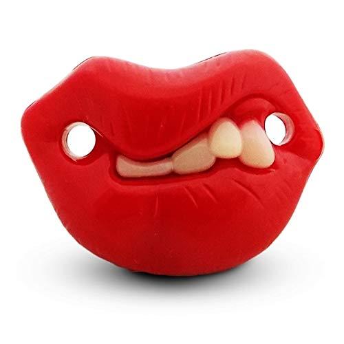 Humorística aro en el pezón del chupete y dientes