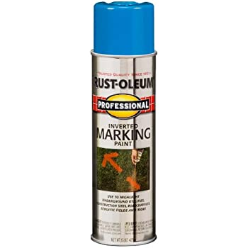 Rust-Oleum 2524838 Professional Inverted Marking Spray Paint, Caution Blue, 15-Ounce