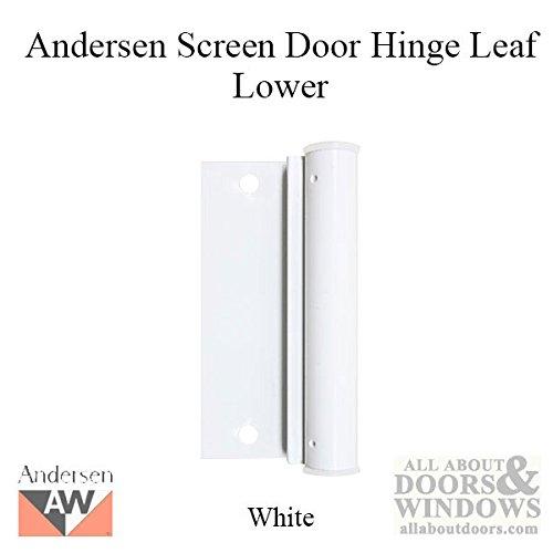 Lower Screen Door Hinge Leaf in - White ()