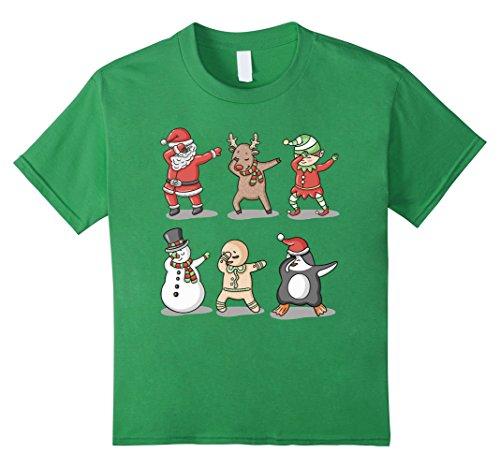Kids Dabbing Santa Ugly Sweater T-Shirt, Dab Santa Shirt 8 Grass
