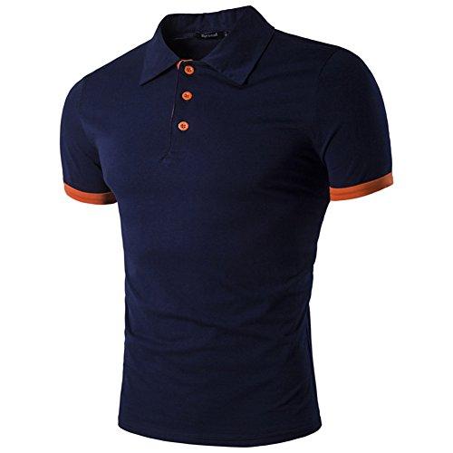 BicRad Herren Poloshirt Slim Fit Baumwolle