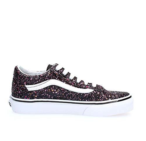 Vans Kids Girl's Old Skool Glitter Stars Skate Shoes