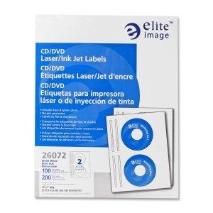 ELI26072 - Elite Image CD/DVD Laser/Inkjet Label ()