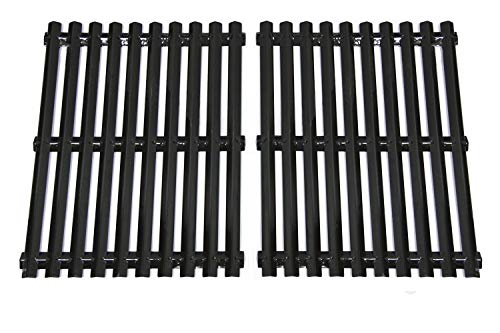 Hongso PCI812 Porcelain Steel Cooking Grid/Cooking Grates Replacement for Brinkmann, Grill Master, Nexgrill and Uniflame Gas Grills, Set of 2 - Gas Grill Set