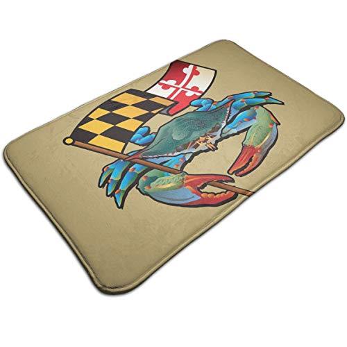 YOHHOY Blue Crab Maryland 1 Soft Bath Mat Extra Absorbent Memory Foam Rug Toilet Floor Rug Perfect for Door Mat ()