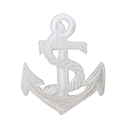 ID 2606 Nautical Anchor With Rope Patch Ship Marine Embroidered Iron On Applique