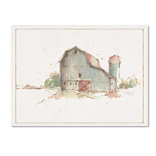 Farm Friends XIV Barn by Lisa Audit, 24x32-Inch Canvas Wall Art