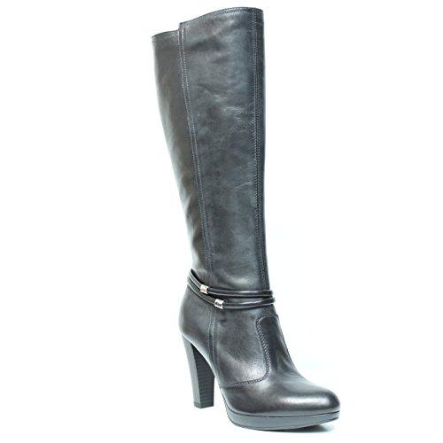 NERO GIARDINI ART. A513307D-100 chaussure en cuir noir A5 13307 D