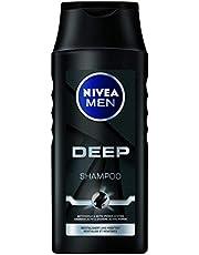 NIVEA Men Deep Shampoo (250 ml), effectieve haarshampoo met actieve kool, revitaliserende verzorgingsshampoo voor langdurige frisheid.