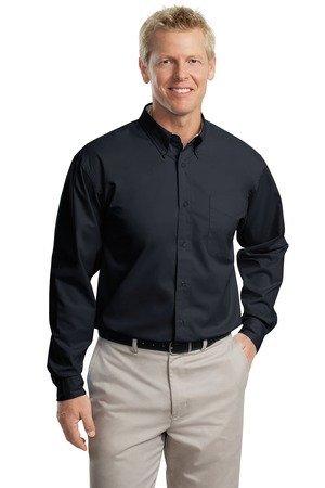 Port Authority Long Sleeve Easy Care Shirt - Classic Navy/ Light Stone S608 XXL