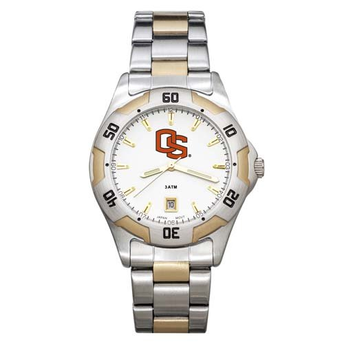NCAA Oregon State Beavers Men's All-Pro Two-Tone Watch
