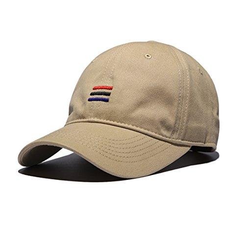 - Eohak American Flag Baseball Cap Embroidered Cotton Baseball Hat Men Women, Army Military Cap Adjustable Velcro Back Closure (Khaki)