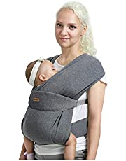 New 2019 release CUBY Breathable Soft Lightweight Cotton Cover Baby Wrap Carrier, Baby Sling, Nursing Cover (Dark gray)