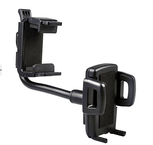 SuperMay Car Mount Holder Cradle, Adjustable Car Rear View Mirror Cradle for Car Mount Holder Cradle for All iPhone and Android Devices