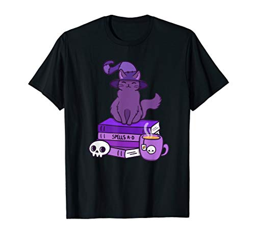 Cute Magic Cat Book T-Shirt T-Shirt
