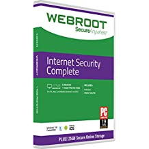 Webroot Internet Security Complete 2018 | 5 Devices | 1 Year | Mac Download