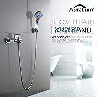 Auralum Classique Mitigeur bain avec ensemble de douche Robinet de bain et douche avec Pomme de douche Douche multifonction Convient pour douche et baignoire