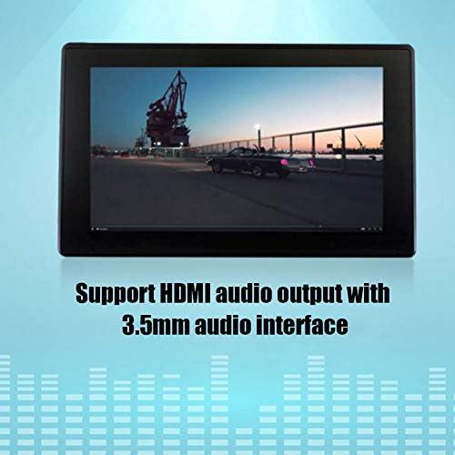 Taidda- Touchscreen HDMI, Robusto e Durevole da 7 Pollici HDMI LCD (H) 1024 * 600 Touchscreen Capacitivo per Lettori DIY Raspberry PI BB Nero
