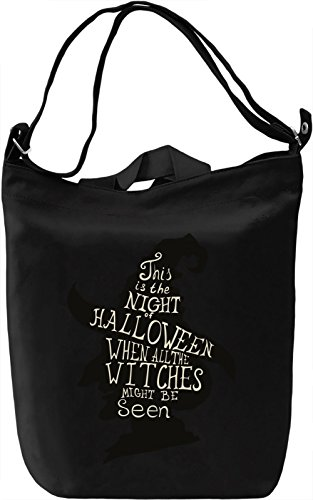 Witch Borsa Giornaliera Canvas Canvas Day Bag| 100% Premium Cotton Canvas| DTG Printing|