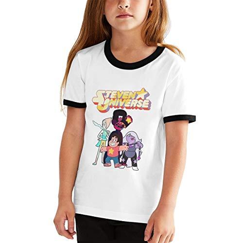 Kangtians RHZTPYRDE Steven Universe Girls Boys Youthful Fashion Fun Short Sleeve T-Shirt Black L -
