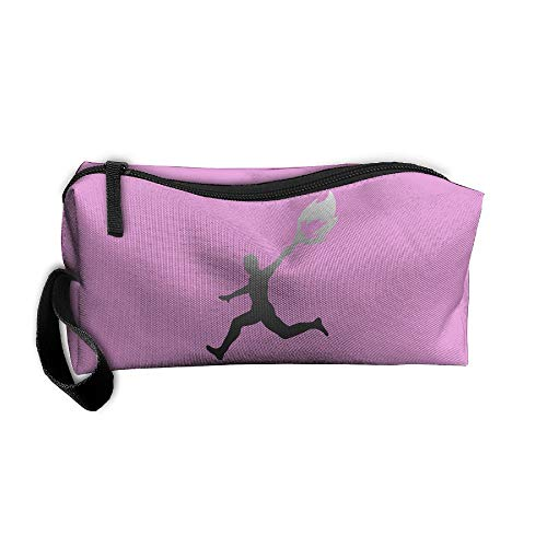 Cosmetic Bags With Zipper Makeup Bag Olympic Torchbearer Middle Wallet Hangbag Wristlet Holder
