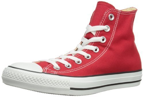 Converse Unisex Chuck Taylor Hi Basketball Shoe (3.5 Men 5.5 Women, Red) (red, 9.5)