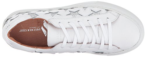 Sneaker Street Womens Nora-Euro Star Fashion Sneaker, Bianco, 7 M US