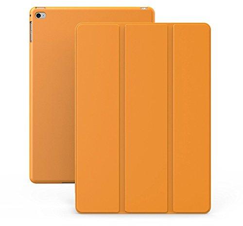 KHOMO iPad Mini 4 Case - Dual Series - Ultra Slim Orange Cover with Auto Sleep Wake Feature for Apple iPad Mini 4th Generation Tablet