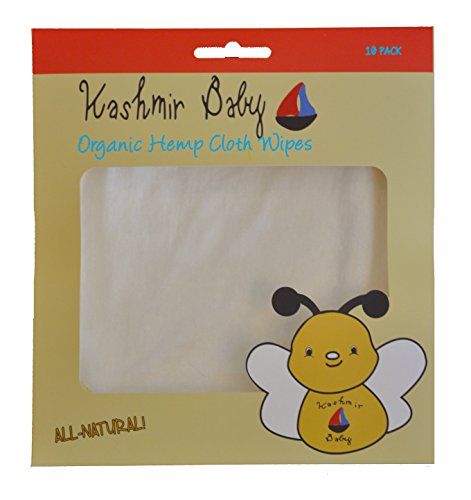 - Kashmir Baby Organic Cloth Wipes, Washable, Reusable with Organic Cotton/Hemp/ Bamboo, Unbleached