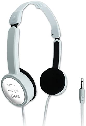 Graphics and More Personalized Custom Novelty Travel Portable On-Ear Foldable Headphones