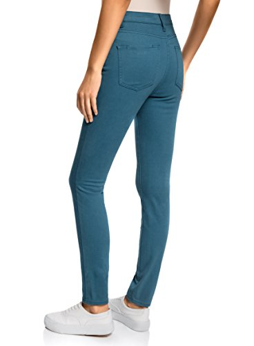 Stretch Color Vert Jean oodji 6c00n Femme Ultra qIwt0